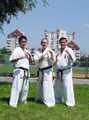od lewej: sensei R. Narushima, shihan A. Drewniak, shihan K. Gorai
